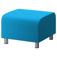 Turquoise Custom Slip Cover for Ikea Klippan Footstool Sofa Cover Foot Stool