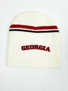 Nike Dri-Fit NCAA UGA Georgia Bulldogs Beanie Hat Black/Red Striped One Size