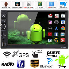 """Android 4.4 Double 2DIN 7"""" Car Stereo MP3 MP5 Player GPS Navi Bluetooth FM Radio"""