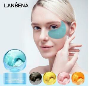 60 Pcs Hyaluronic Acid  Under Eye Patches, Hydrogel Eye Mask, Deep Hydration uk