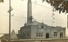 1907-1920 Real Photo PC; Fine Brick Building Water Works Unknown US Location