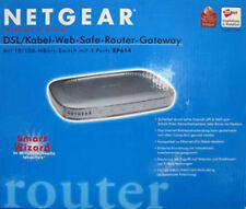 Router NETGEAR rp614 v2 Cavo DSL Web Save switch 4 porte SPI NAT & Argento OVP