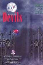 Cardiff Devils v Newcastle Riverkings 28 Nov 1999 Ice Hockey Programme, Cardiff
