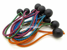 """(12pc) 6"""" COLOR Ball BUNGEE Cord Tarp Bungee Tie Down Strap Bungi Canopy Straps"""