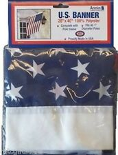 "28"" x 40"" Annin American US Flag Stars & Stripes Banner Flag   Closeout # 21875"