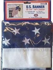 "28"" x 40"" Annin American US Flag Stars & Stripes Banner Flag   Closeout # 21875"
