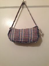 Patchwork Purse Hand Bag With Strap Pocket Book Patch Work Multicolor New NWT
