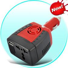 150W Car Power Inverter Cigarette Lighter (12V DC to 220V AC + 5V USB Port)
