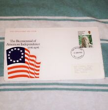 THE BICENTENNIAL OF AMERICAN INDEPENDENCE 11p FDC 2 JUN 1976 MLO REDHILL FDI SHS
