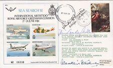 C88c  RAF Greenham Common Sea Seach 81  Signed 3, 2 Battle of Britain Pilots
