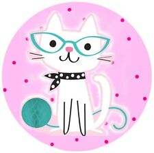 Purrfect Cat Round Edible Party Cake Image Topper Frosting Icing Sheet