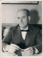 1936 Press Photo John E Mack Judge Former Supreme Court Justice Sitting Desk