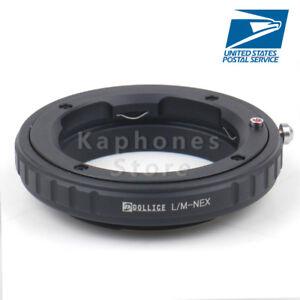 Leica M L/M LM lens To Sony E Mount NEX Adapter A7 A7R A7S NEX-7 5T 6 A5000 3N