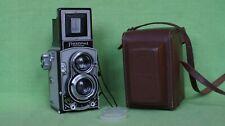 VERY NICE FLEXARET VII MEOPTA CZECHOSLOVAKIA TLR camera + LETHER CASE