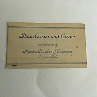 Nampa Idaho Tourist information Vintage Strawberries &Cream Chamber Commerce 5X3