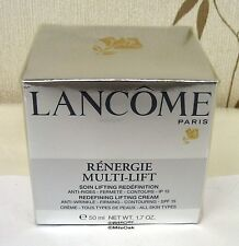 LANCOME renergie multi-lift 50ml-nuovo-SPF15-Boxed & Cellophane Sigillato
