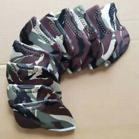 10Pcs Camouflage Golf Iron Club Head Cover Neoprene Iron Covers with Top Window