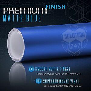 "36"" x 60"" In Matte Flat Blue Vinyl Wrap Film Car Decal Bubble Free Air Release"