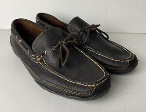 LL Bean Mens Moccasins Camp Moc Handsewn Boat Loafer Shoes Size 10 D Brown