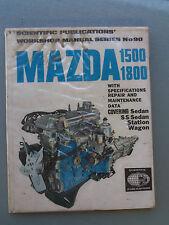 MAZDA 1500 & 1800 WORKSHOP MANUAL INCLUDING SS SEDAN