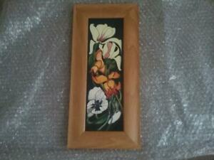 Superb  Moorcroft Pottery  Framed Plaque Miss Alice Emma Bossons 1st Quality