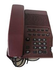 Vintage Telephone push buttons Teli phone Retro Dark Red Burgundy
