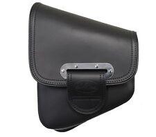 La Rosa Slim Line Black Leather Swingarm Tool Bag Combo Softail Saddlebag LaRosa