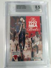 1992-93 SkyBox Basketball # 318 1992 NBA Finals Michael Jordan- BGS- 8.5