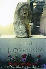 Jim Morrison Grave No One Here Gets Out Alive Music Poster 24x36