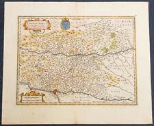 1619 Jan Jansson Antique Map Loire & Rhone Rivers, Auvergne-Rhône-Alpes, France