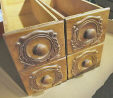 Vtg Antique Singer Treadle Sewing Machine 4 Wood Drawer Set Cabinet Table  Brown