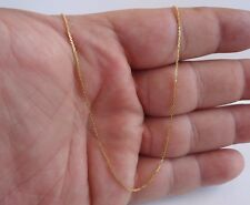 18K YELLOW GOLD OVERLAY /OVER 925 STERLING SILVER BOX STYLE CHAIN/ MADE IN ITALY