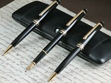 MONTBLANC MEISTERSTUCK CLASSIQUE 144 SET OF 3 PENS LINE GOLD WITH BOX