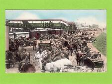 North Somerset Territorial Yeomanry Salisbury Plain 1909 Railway Station pc