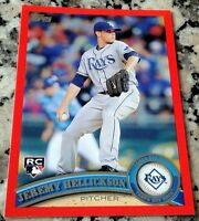 JEREMY HELLICKSON 2011 Topps RED SP 164/245 Rookie Card RC Logo HOT 3-0 Phillies