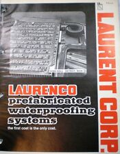 Laurenco Asphalt Products ASBESTOS Waterproofing 1979