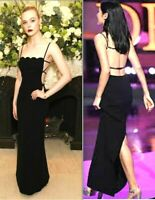 $2,815 Miu Miu Open Back Strappy Scalloped Long Maxi Evening Gown US 2 / IT 38