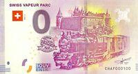 BILLET 0  EURO SWISS VAPEUR PARC  2018 NUMERO 100