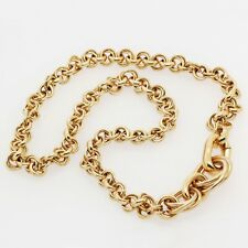 Pomellato Choker Link Chain Necklace in 18K Yellow Gold