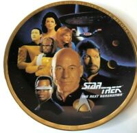 "Star Trek ""The Crew"" Collector's Plate  ENESCO CORPORATION 1993  w box"