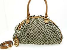 Gucci Sukey Diamante Boston 2way Hobo Marrón X Gris 227082