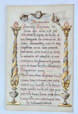 ILLUMINATED MANUSCRIPT LEAF ON VELLUM, 19th C. BOOK OF HOURS