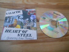 CD Pop Galactic - Heart Of Steel (1 Song) Promo ANTI- REC