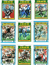 JAMES LOFTON SIGNED 1988 TOPPS 1000 YARD CLUB CARD RAIDERS HOF