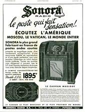 Publicité ancienne radio Sonora SFG  France 1936 issue de magazine