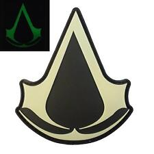 assassin's creed glow dark cosplay PVC rubber PS3 xbox PS4 hook-and-loop patch