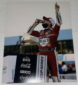 Kevin Harvick autographed BUSCH APPLE NASCAR VICTORY 8x10 CUP SERIES FORD photo
