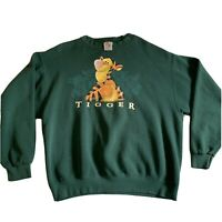 Vintage 90s Tigger The Disney Store Crew Neck Sweatshirt Green Sweater Sz M