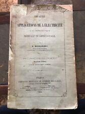 Antique Medical Book~1860~electricity~shock Therapy~Becquerel~scarce