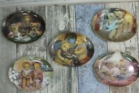 Sue Willis Franklin mint limited edition plates set of 5